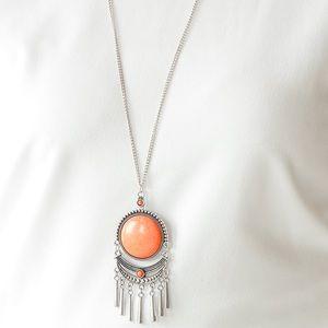Rural Rustler orange necklace